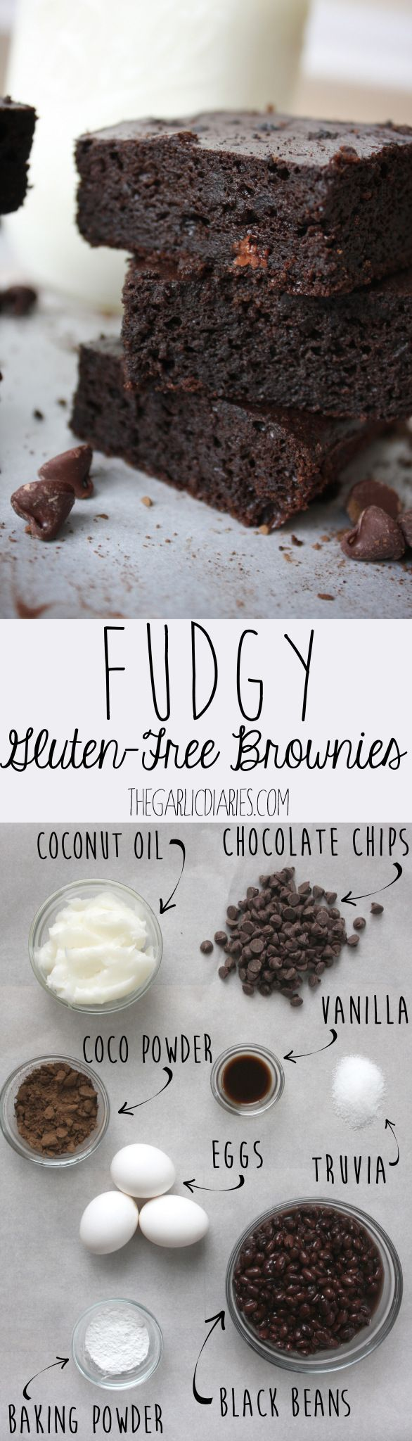 Fudgy Gluten-Free Brownies -- TheGarlicDiaries.com                                                                                                                                                                                 More