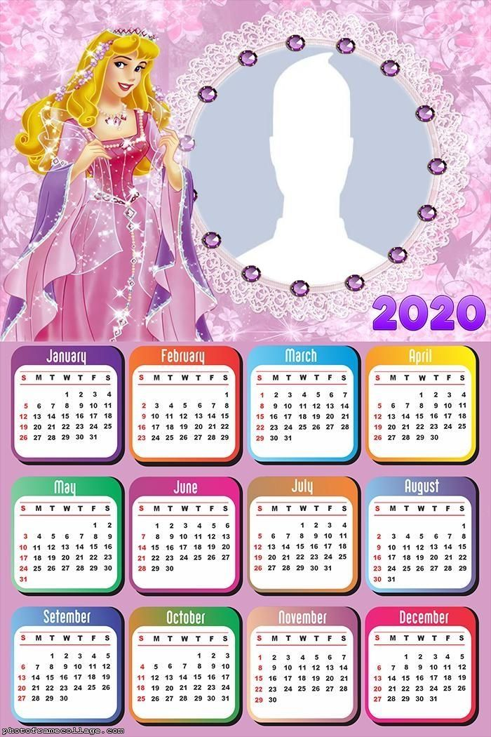 Cartoon 2020 Calendar Design Free Printable Calendar Design Calendar Calendar 2020