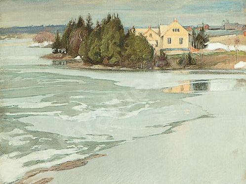 Pekka Halonen, Early Spring in Tuusula, Hagelstam, Helsinki