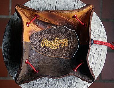 Custom Valet Dump Tray Built From Old Baseball Gloves-Vvego…