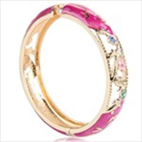 Traditional Chinese Cloisonne Hollow Bangle Bracelet Costume Jewelry Collectible Wrist Decorator Assorted Color