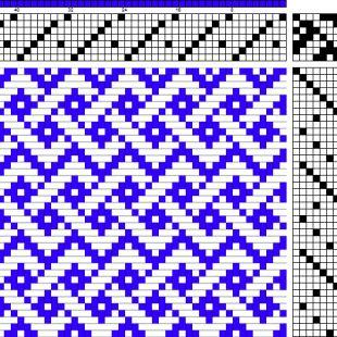 Simplified Celtic Braid - weaving draft