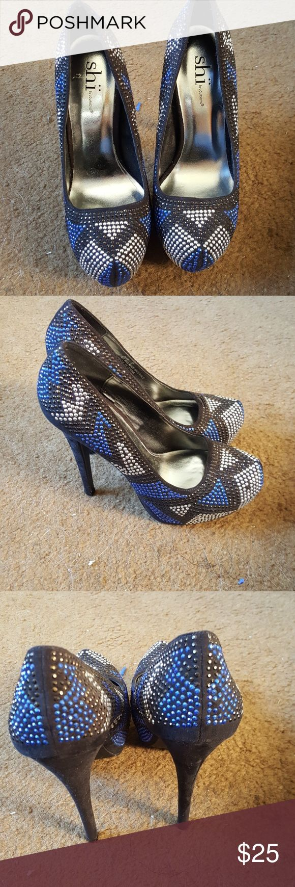 Multi color high heels Sequin multi color high heels. Like new Shi by JOURNEYS Shoes Heels
