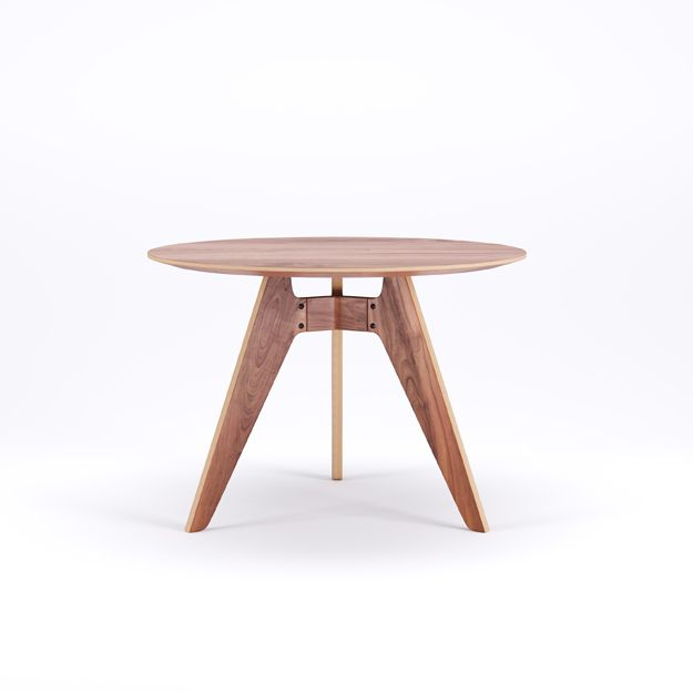 LAVITTA - ROUND TABLE 100 CM - 3-LEGGED WALNUT