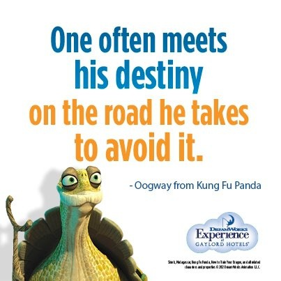 One often meets his destiny on the road he takes to avoid it - Kung Fu Panda || I like this one