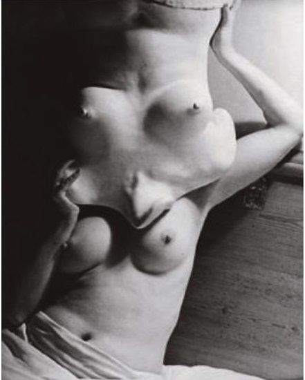 "Roland Penrose- Portrait of Lee Miller, 'Which- be-Witch', Lee Miller with body cast, known as 'Bewitches Witch', 1942   [from ""Angels of Anarchy - Women Artists and Surrealism"" edited by Patricia Allmer & Manchester City Art Gallery,2009."