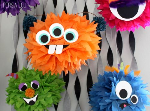 DIY Monster Pom Poms