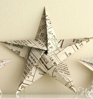 Easy origami paper star Christmas tree ornament (paper folding tutorial) // Egyszerű origami csillag - karácsonyfadísz papírhajtogatással // Mindy - craft tutorial collection // #crafts #DIY #craftTutorial #tutorial