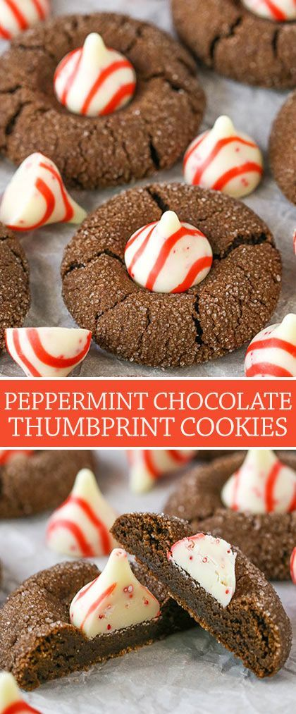 Peppermint Chocolate Thumbprint Cookies Recipe The Ultimate