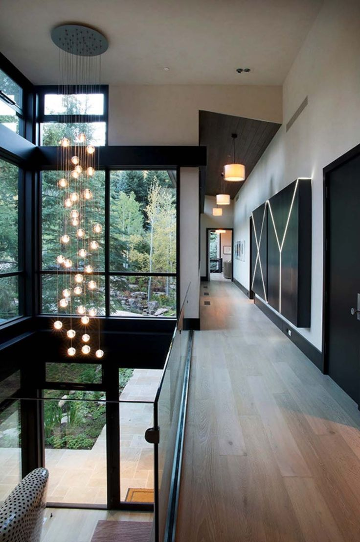 Large glass facade  railings black trim and doors Best 25 Modern homes ideas on Pinterest Big houses with pools
