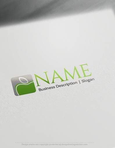 Design Free Logo: Apple Online Logo Template