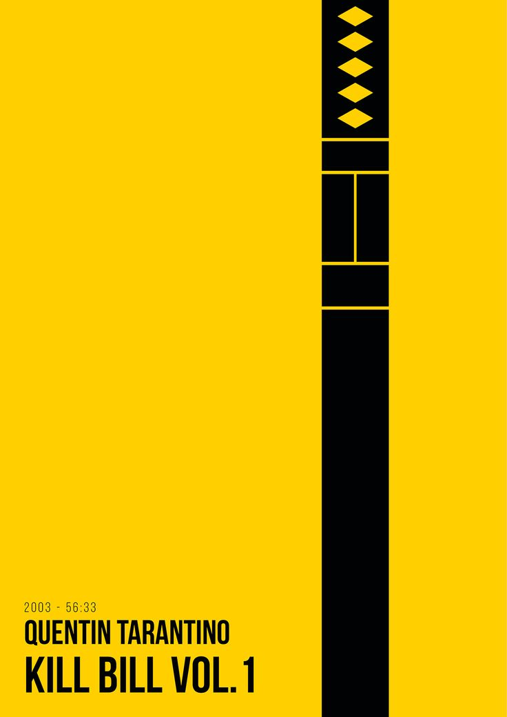 Kill Bill: Vol.1 (2003) ~ Minimal Movie Poster by Renato Sabato #amusementphile