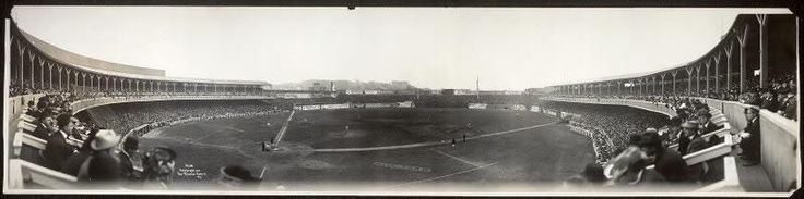 Pano of Polo Grounds in 1910. This version of the ballpark would burn down a year later.