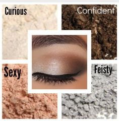 Younique Eye Pigments Curious, Sexy, Feisty and Confident