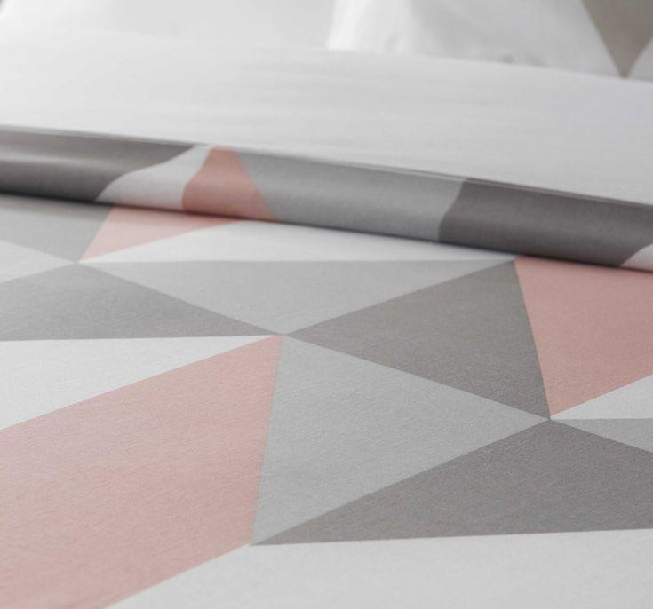 graphic multicoloured bed linen 260 x 240 cm | Maisons du Monde