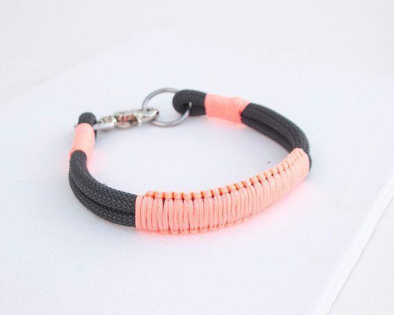 Seil-Hundehalsband. Schicke Charcoal Gray von TopologyHandmade