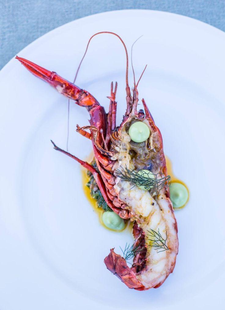 Primi ~ Marron with Bells avocado and Trapani salsa #fresh #australian #seafood #marron #seasonal #simplicity #gardentoplate PC: @breeze_magazine