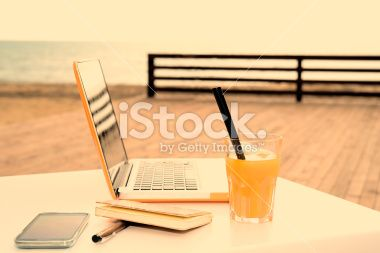 useful digital devices warm filter applied Royalty Free Stock Photo