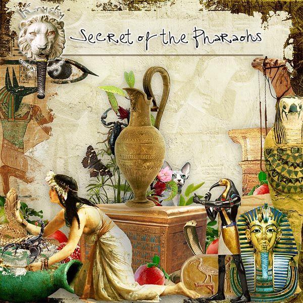 Secret of the Pharaohs by Krysty Scrap Designs #digitalcollage #digital #art #photomanipulation #artjournaling #scrapbook #egypt #pharaoh #mummy