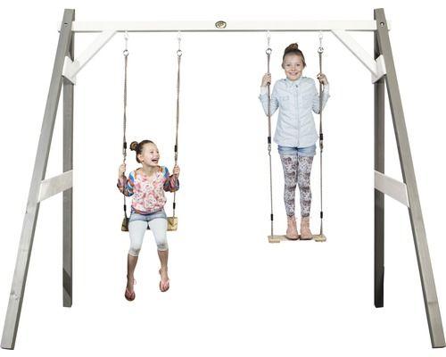 Doppelschaukel axi Swing Holz grau bei HORNBACH kaufen