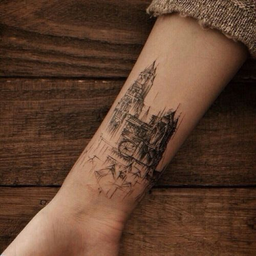 watercolor architecture tattoo - Pesquisa Google
