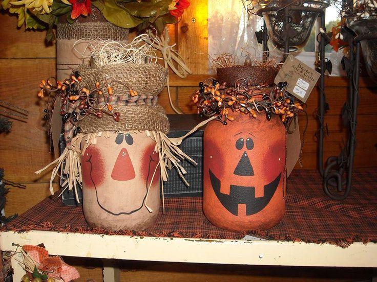 Repurposed Jars... Cute Fall idea!