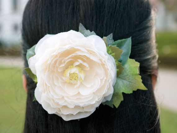 Flower headpiece, bridal headpiece, wedding headpiece, wedding hair accessories, flower hair clip