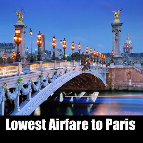 Cheap flights to Paris
