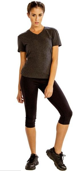 #Shop #Grey #V-neck #Half #Sleeve #Tee #Online at #Alanic at #Great #Prices