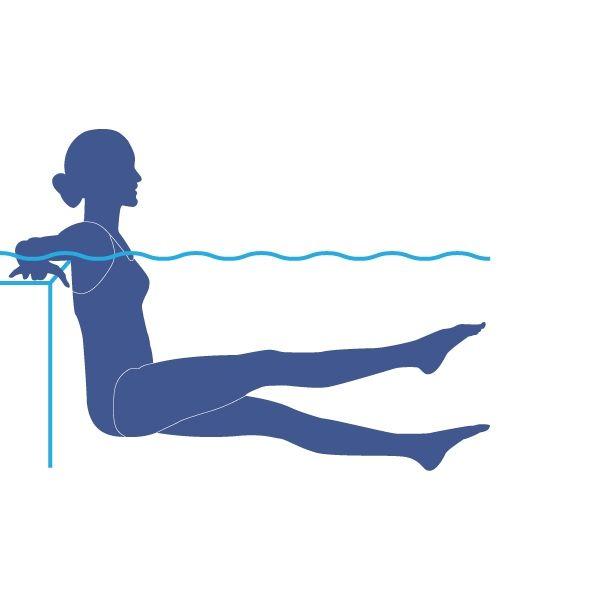 Exercice dans la piscine - Le ciseau | Exercise in the Pool - The Scissor