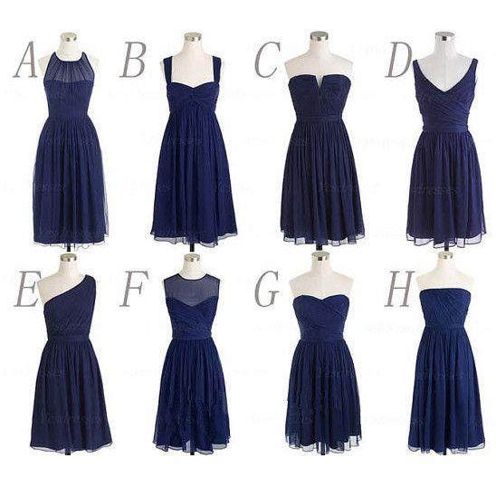 Multi Styles Knee Length Bridesmaid Dresses pst0259