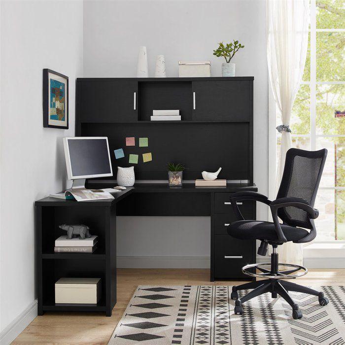 Canvey L Shape Computer Desk Cheap Office Furniture Black Desk