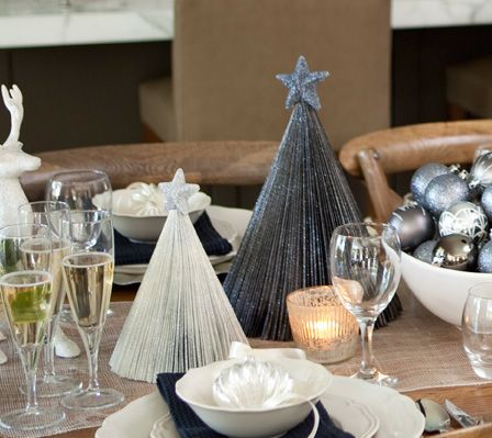 826 best Christmas table Decorations images on Pinterest | Christmas ...