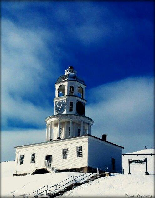 Citadel Clock  in proper color, Halifax, NS , Canada