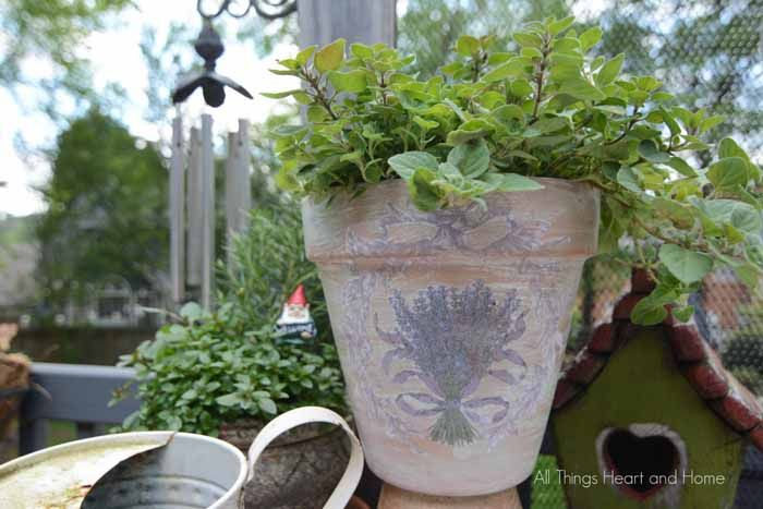French Inspired Flower Pots - All Things Heart and Home