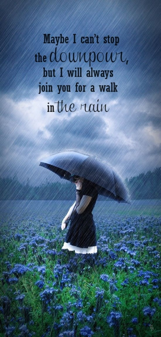 I'll always join you for a walk in the rain!  We won't melt!   I LOVE #RAIN!!!  #umbrella