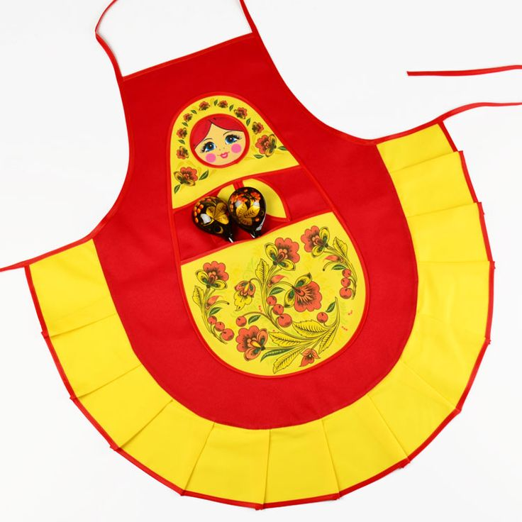 Cute Russian Doll Apron from Russia from www.therussianstore.com