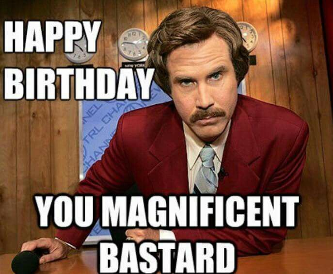 Birthday ron burgundy