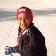 Little Marion Bartoli skiing