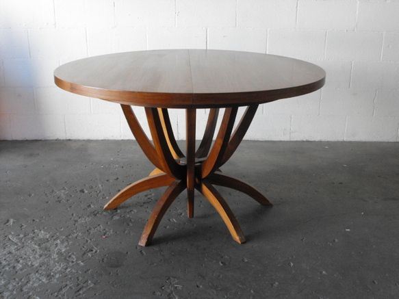 Delightful Charming Design Mid Century Modern Round Dining Table Stupefying Mid  Century Modern Dining Table With Leaf Photo Gallery