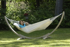 Image of AMAZONAS Apollo wooden hammock stand - The little brother!
