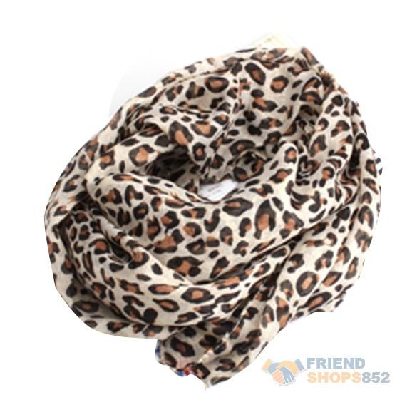 #F9s Elegant Noble Classical Style Leopard Print Cotton Blends Warm Scarf Hot $3.22