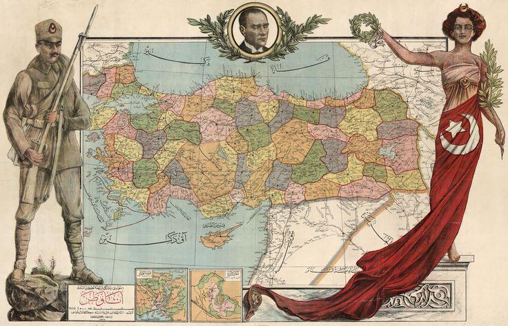 Map of Turkey, 1927 #map #turkey
