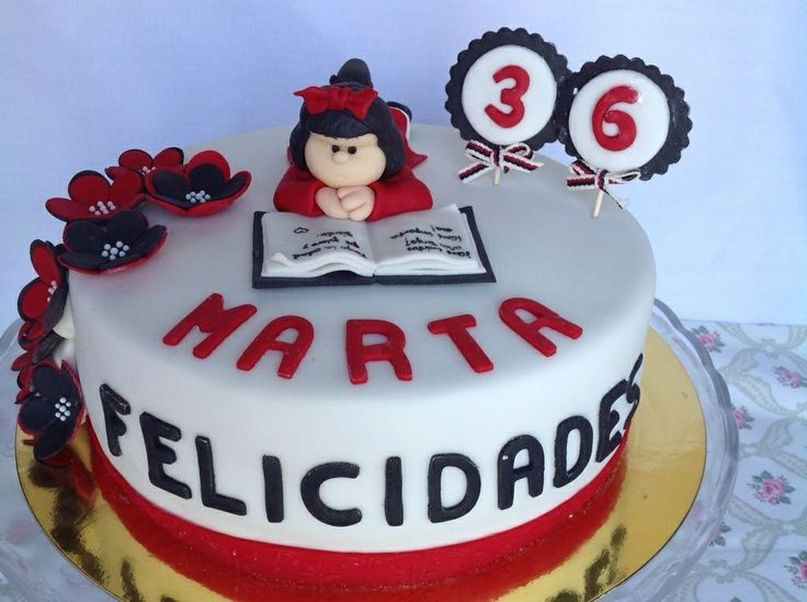 Mafalda fondant cake