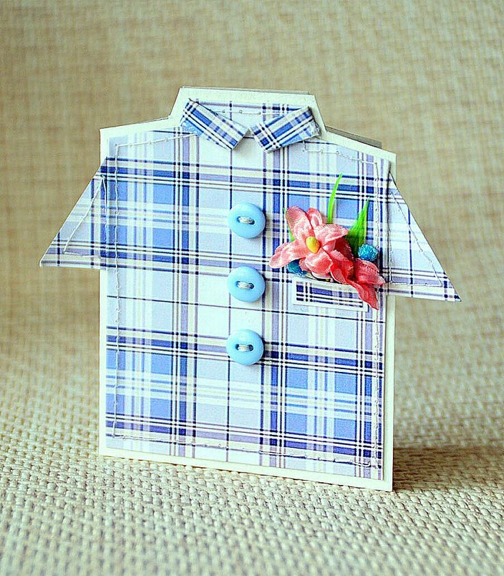 Рубашка мужская для открыток, музыкальные открытки днем
