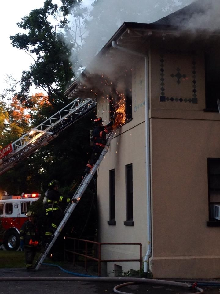 3rd Alarm Thornwood, NY 1075 Broadway, fire started in roof, lots of truck work