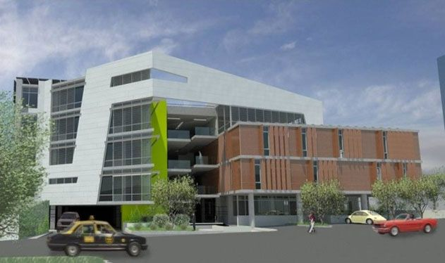 Commerical office building elevations modern commercial for Modern business buildings
