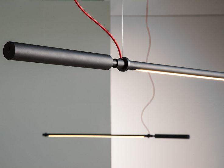 LED direct-indirect light adjustable aluminium pendant lamp COLIBRÌ | Pendant lamp - Martinelli Luce