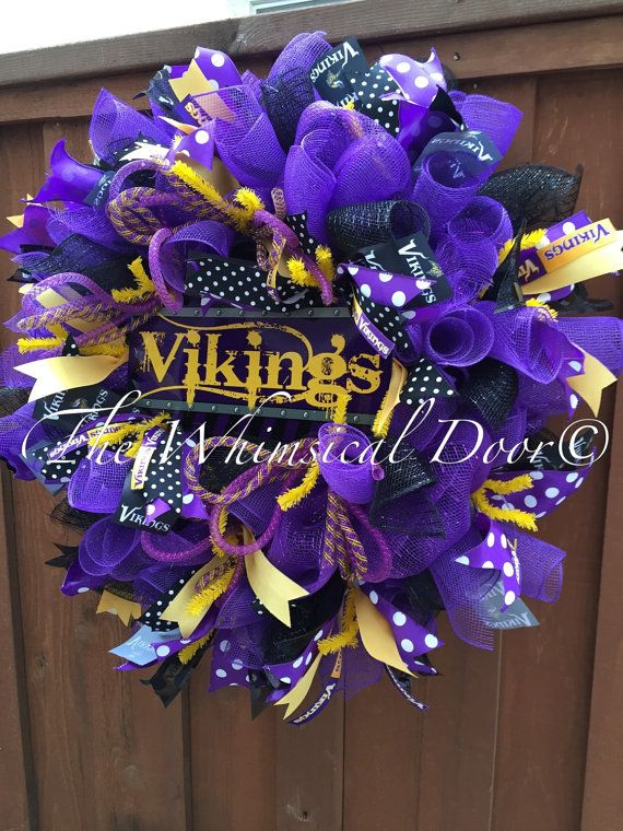Minnesota Vikings Decomesh Purple Yellow by TheWhimsicalDoor