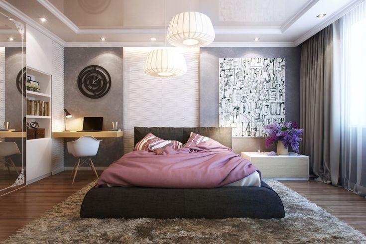 Modern Small Bedroom soft bedroom rug